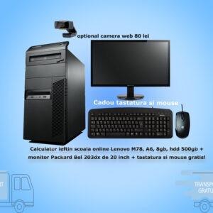 m78, A6, 8gb, hdd 500gb, +monitor